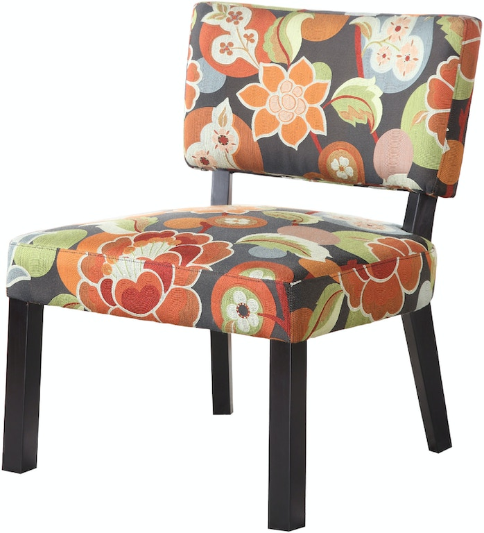 Powell Furniture Living Room Bright Floral Print Accent ...