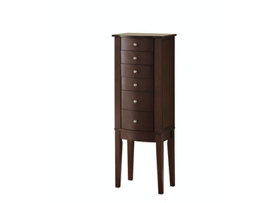 Powell Furniture Merlot Jewelry Armoire 398-315