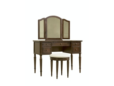 Powell Furniture Warm Cherry Vanity, Mirror And Bench 429-290