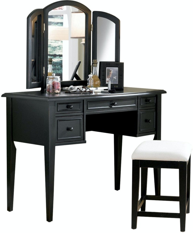 Powell Furniture Bedroom Antique Black With Sand Through ...