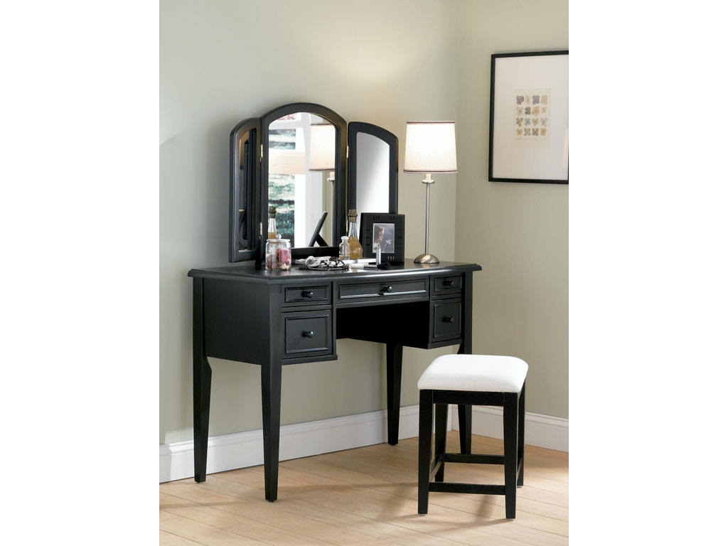 Powell Furniture Bedroom Antique Black With Sand Through