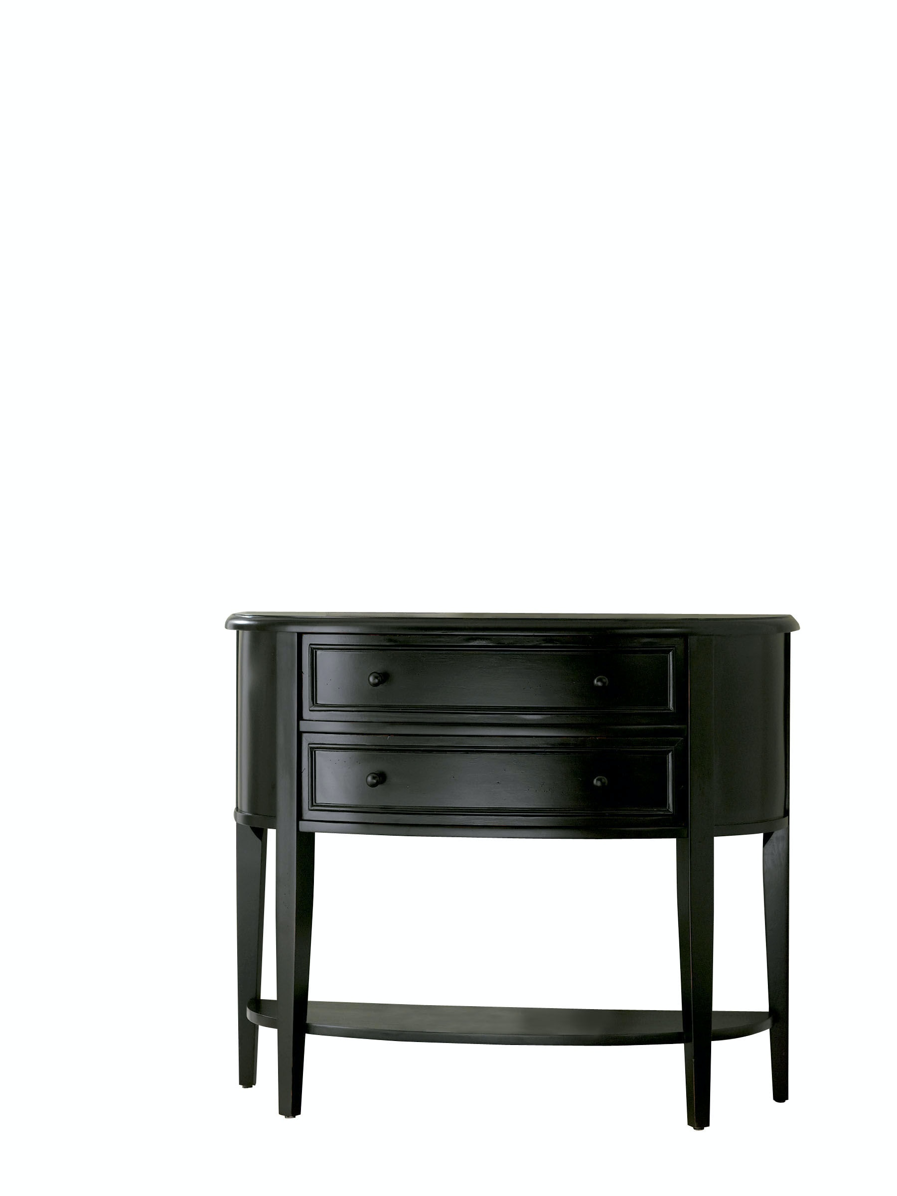 Powell Furniture Antique Black With Sand Through Terra Cotta Demilune  Console Table 502 515