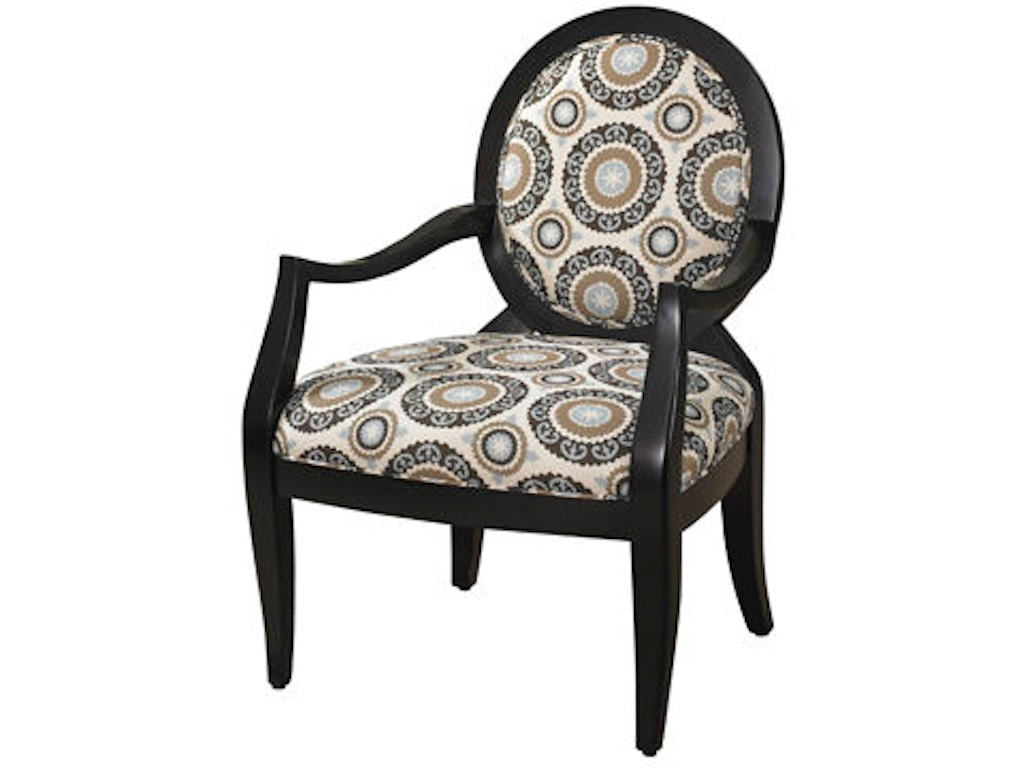 Powell Furniture Living Room Black Chair With Mist Floral Fabric 502 607 Russell 39 S Fine