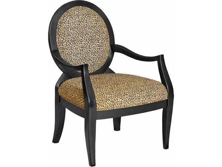 Powell Furniture Living Room Leopard Oval Back Accent Chair 18 3 4