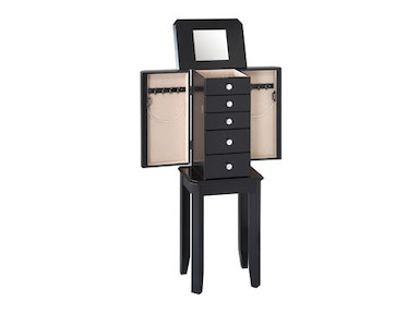 Powell Furniture Black Jewelry Armoire 502-788