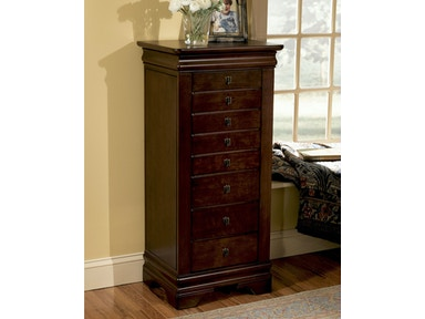 Powell Furniture Louis Philippe Marquis Cherry Jewelry Armoire 508-315