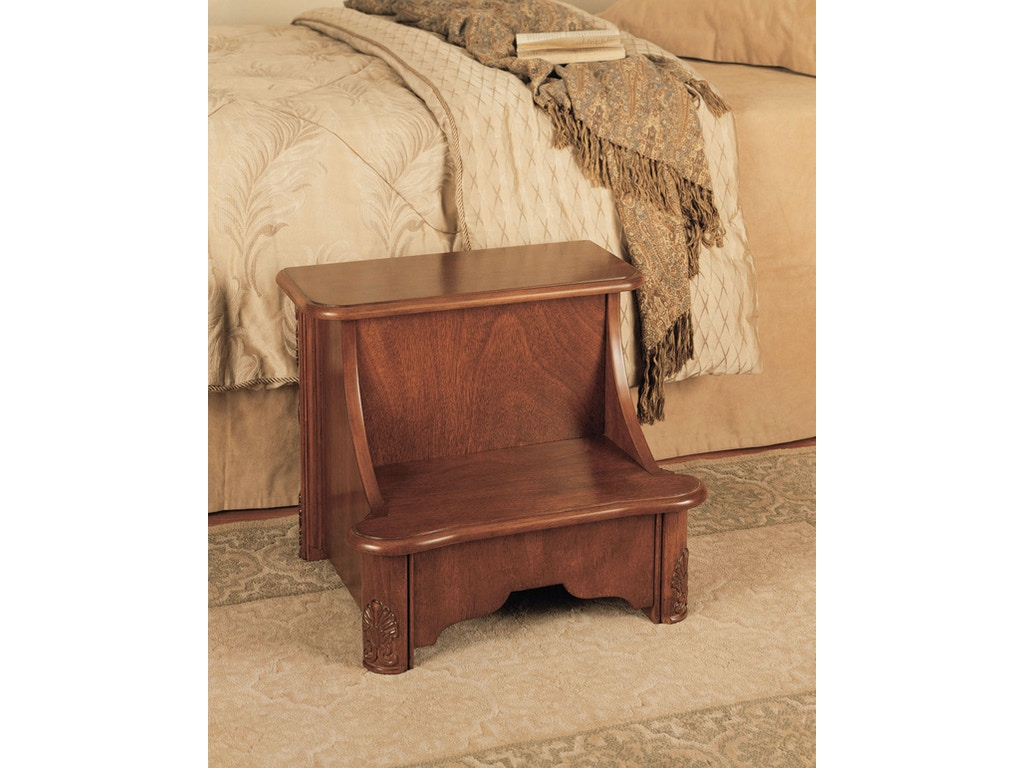 Powell Furniture Accessories Woodbury Mahogany Bed Steps With Storage Overpacked 520 535