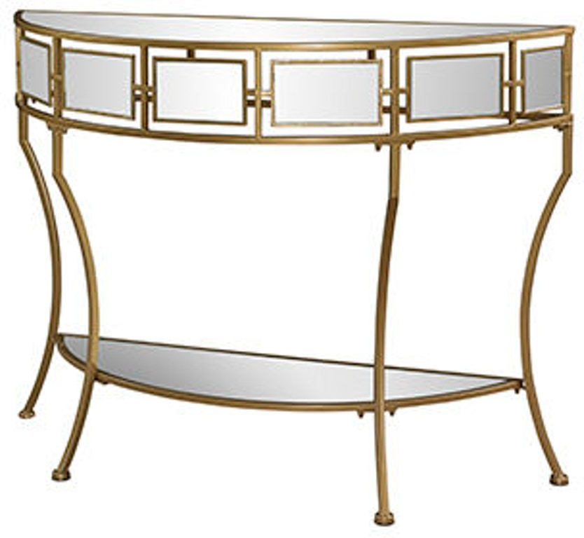 Powell Furniture Living Room Midas Mirror And Gold Console