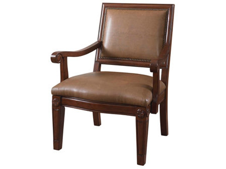 Powell Furniture Living Room Dune Bonded Chair With Wood Arms 566