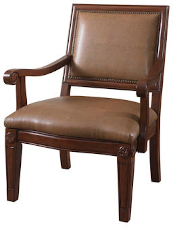 Powell Furniture Living Room Dune Bonded Chair With Wood ...