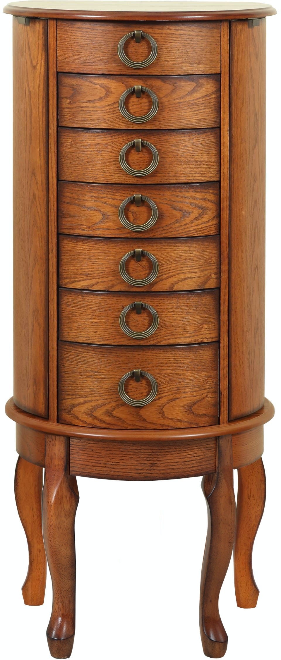 Powell Furniture Accessories Burnished Oak Jewelry Armoire