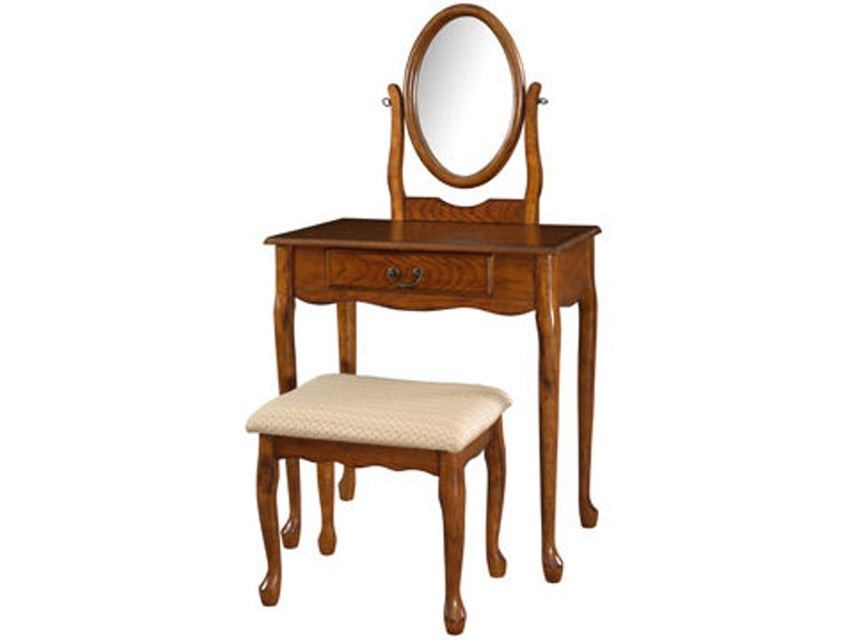 Enjoyable Powell Furniture Bedroom Woodland Oak Vanity Mirror And Gmtry Best Dining Table And Chair Ideas Images Gmtryco