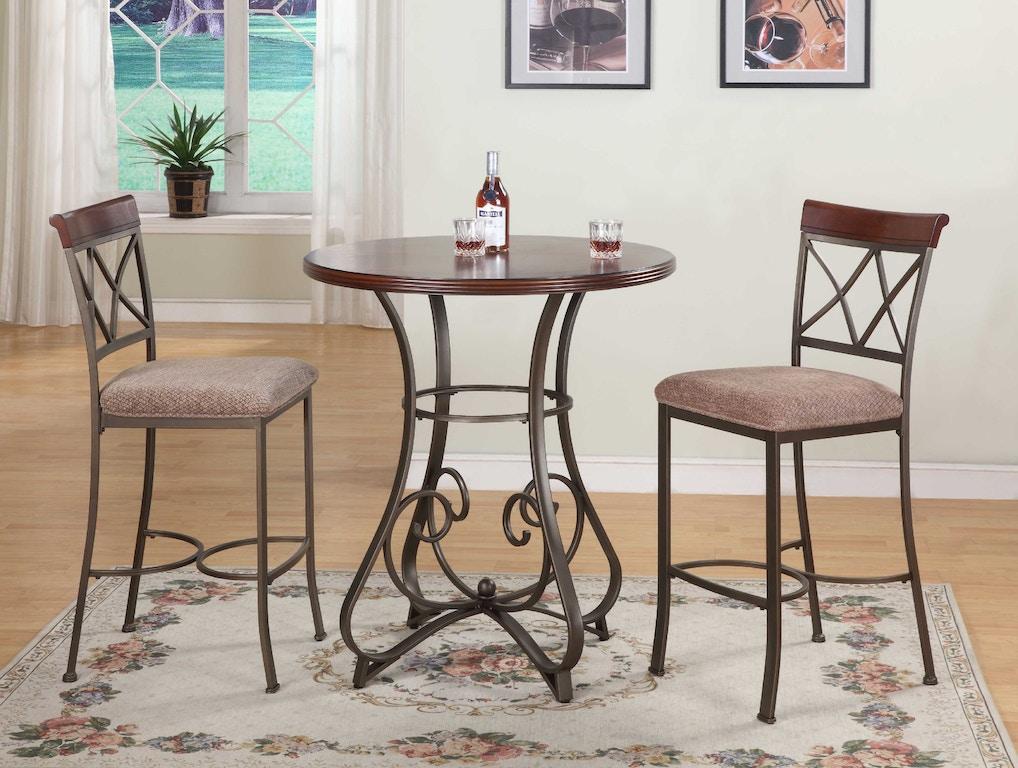 Powell Furniture Dining Room 3 PC Hamilton Pub Set