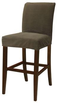 Powell Furniture Living Room Mink Brown Velvet Slip Over