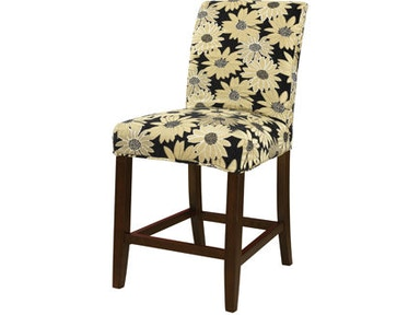 Powell Furniture Black Peppercorn Floral Slip Over Slipcover - Pack 1 (Fits 742-430 Counter Stool Or 742-432 Bar Stool. Stool Not Included.) 742-265Z