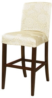 Powell Furniture Living Room Champagne Floral Slip Over