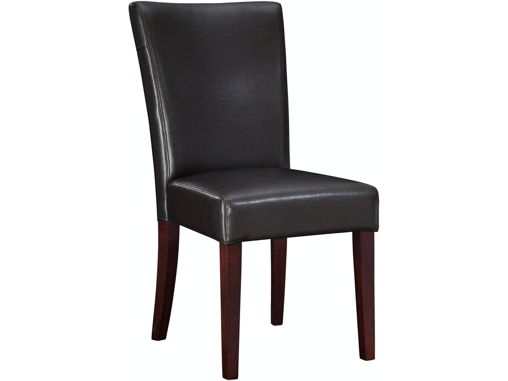 powell furniture dining room brown bonded leather parsons chair 20 1 2 inch seat height 749 833. Black Bedroom Furniture Sets. Home Design Ideas