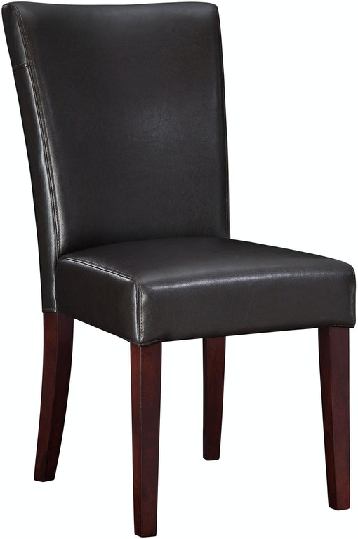 Groovy Powell Furniture Dining Room Brown Bonded Leather Parsons Gmtry Best Dining Table And Chair Ideas Images Gmtryco