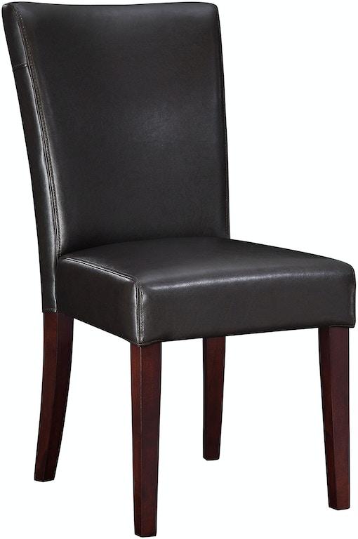 Peachy Powell Furniture Dining Room Brown Bonded Leather Parsons Creativecarmelina Interior Chair Design Creativecarmelinacom