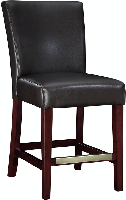 Incredible Powell Furniture Dining Room Brown Bonded Leather Counter Evergreenethics Interior Chair Design Evergreenethicsorg