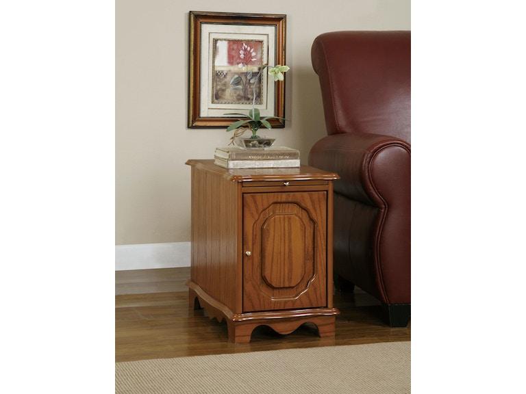 Powell Furniture Nostalgic Oak Magazine Cabinet Table 843