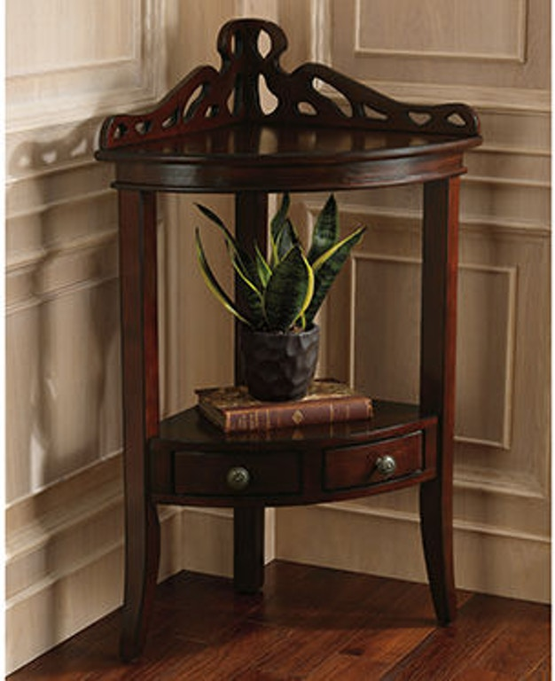 Powell Furniture Living Room Gallery Corner Accent Table 853 ...
