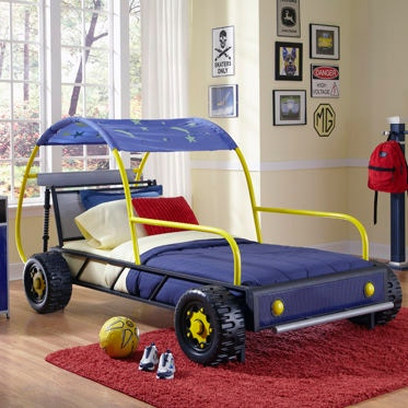 Powell Furniture Youth Dune Buggy Car Twin Bed 904-038 - Carol House  Furniture - Maryland Heights