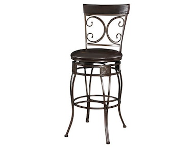 "Tall Scroll Back 30"" Bar Stool 034346"