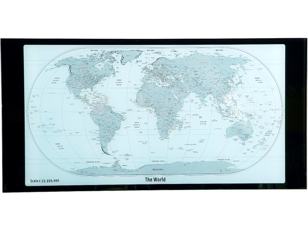 Powell Furniture Home Office World Map Printing Curved X-Sided ...