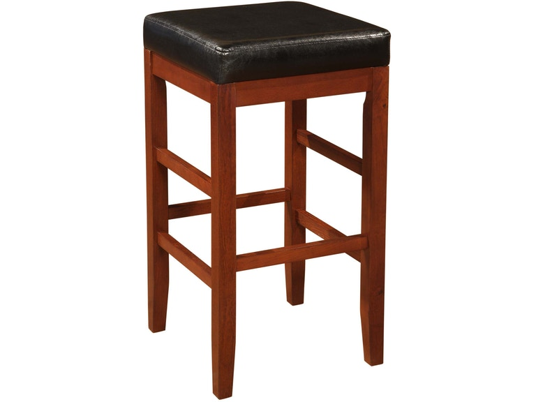 Swell Powell Furniture Bar And Game Room Cherry Square Backless Short Links Chair Design For Home Short Linksinfo