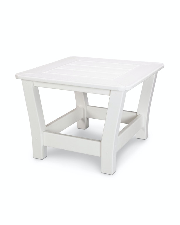 Polywood Outdoor Patio Harbour Slat End Table 4018 Wh Silk