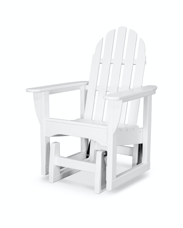Classic Adirondack Glider Chair Adsgl 1wh