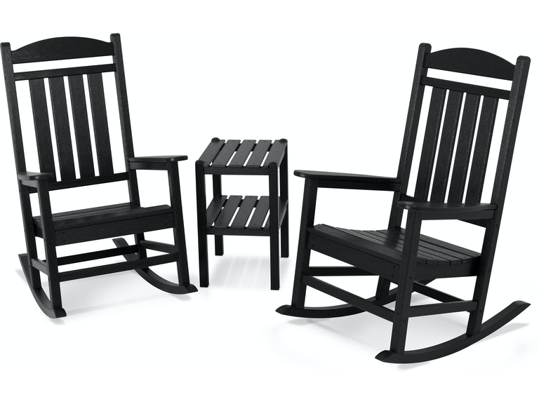 Enjoyable Polywood Outdoor Patio Presidential 3 Piece Rocking Chair Pdpeps Interior Chair Design Pdpepsorg