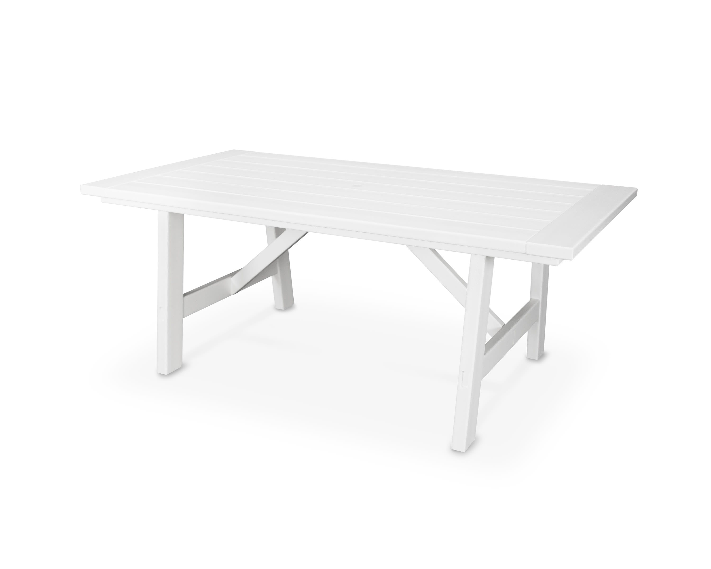 Picture of: Polywood Outdoor Patio Rustic Farmhouse 39 X 75 Dining Table Pl83 Warehouse Showrooms Northern