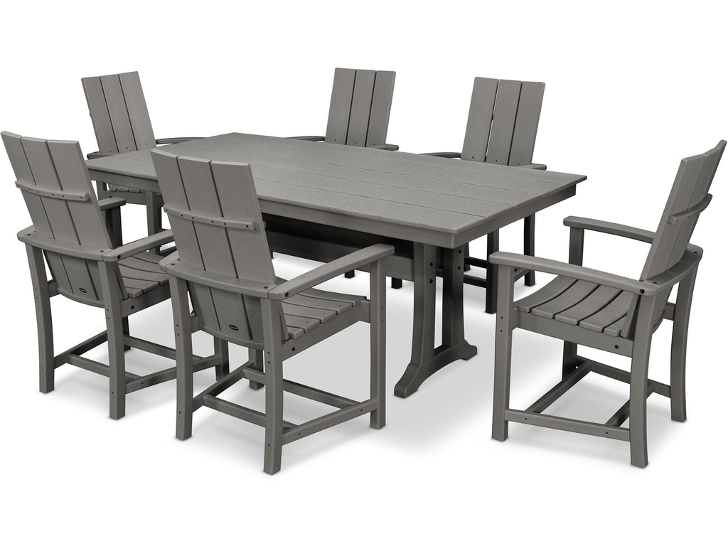 Modern Adirondack 7 Piece Farmhouse Dining Set