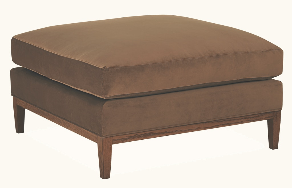 Lee Industries Living Room Leather Cocktail Ottoman L3583