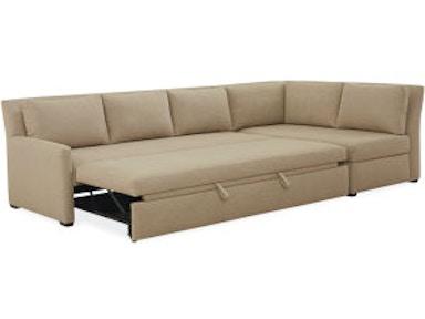 Lee Industries Convertible Sleeper Sectional Series 3827