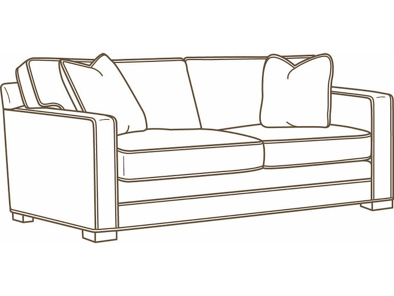 Lee Industries Living Room Leather Apartment Sofa L5285 11 Exotic