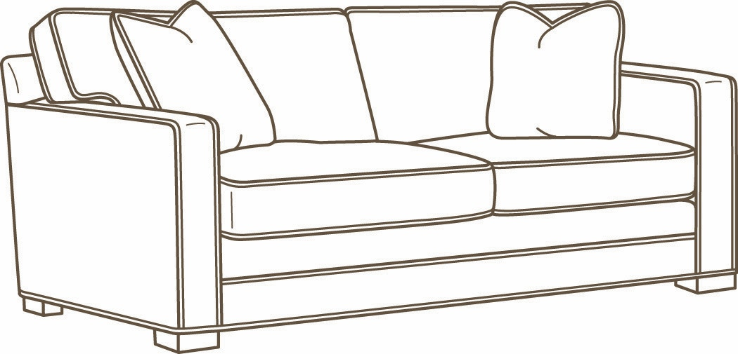 Lee Industries Leather Apartment Sofa L5285 11