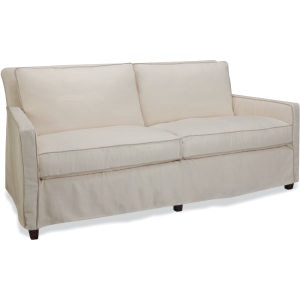 Attractive Lee Industries Slipcovered Apartment Sofa C1296 11