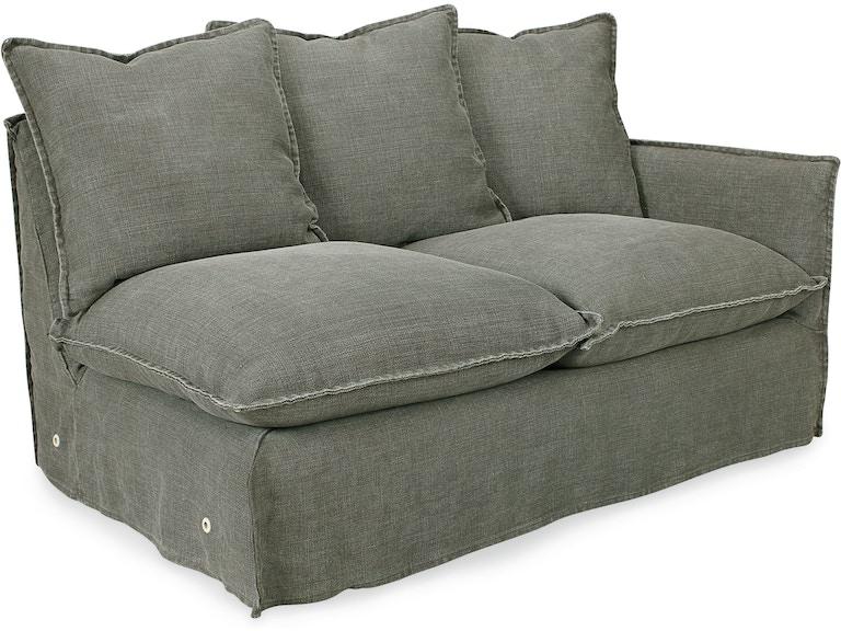 Superb Lee Industries Living Room Slipcovered One Arm Loveseat Forskolin Free Trial Chair Design Images Forskolin Free Trialorg