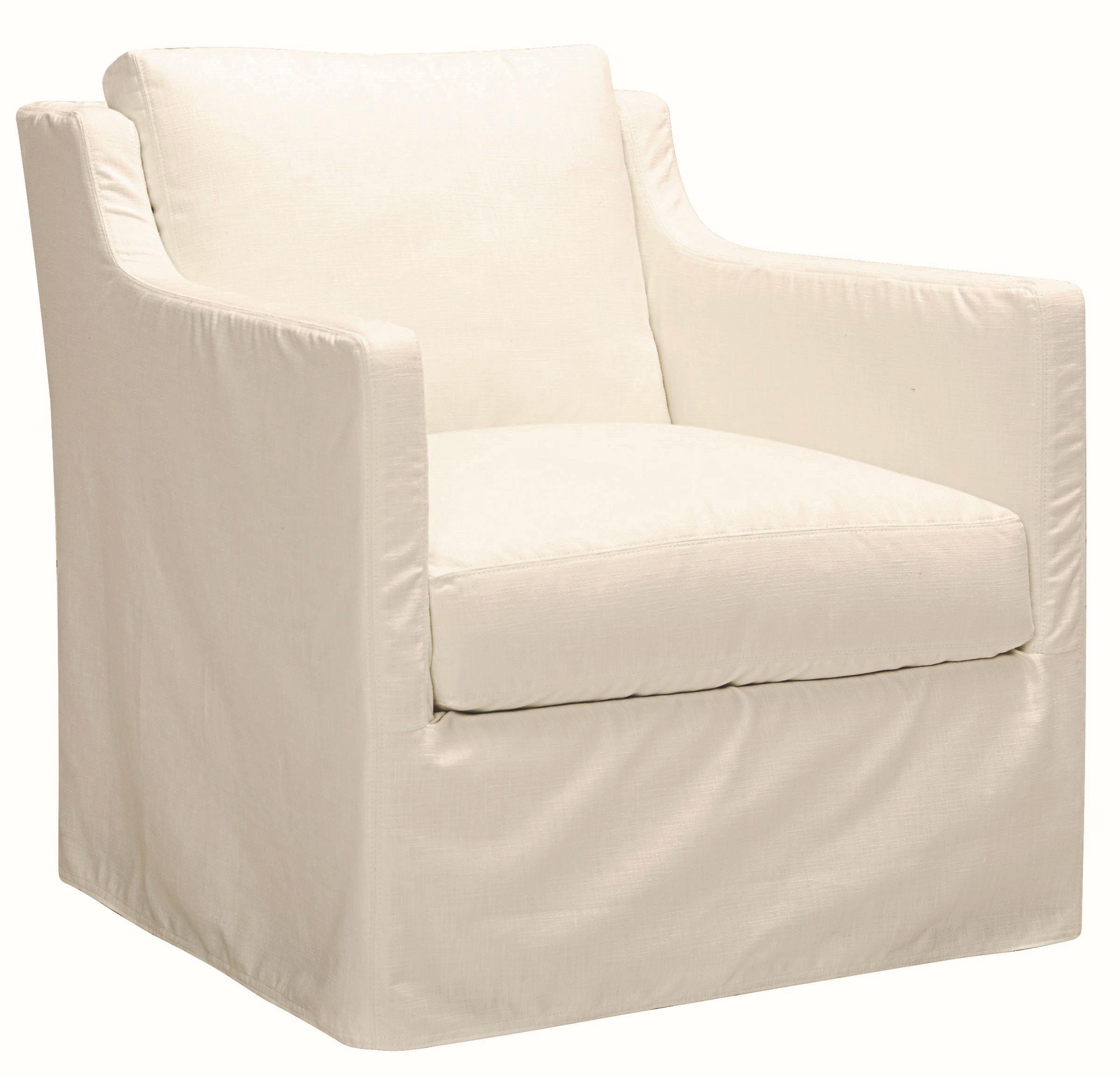 Lee Industries Slipcovered Swivel Chair C1401 01SW