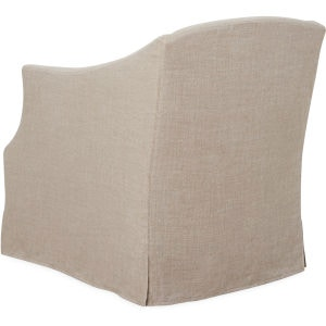 Lee Industries Slipcovered Swivel Chair C1931 01SW