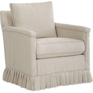 Lee Industries Slipcovered Swivel Chair C1935 01SW