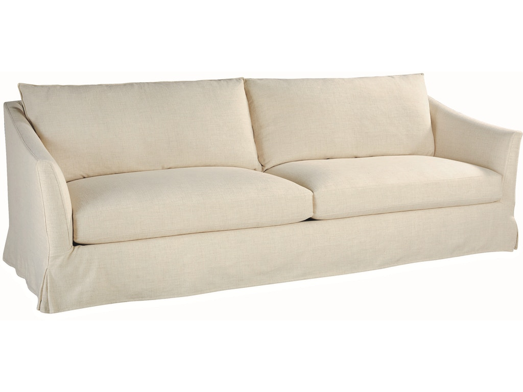 Lee Industries Living Room Slipcovered Extra Long Sofa