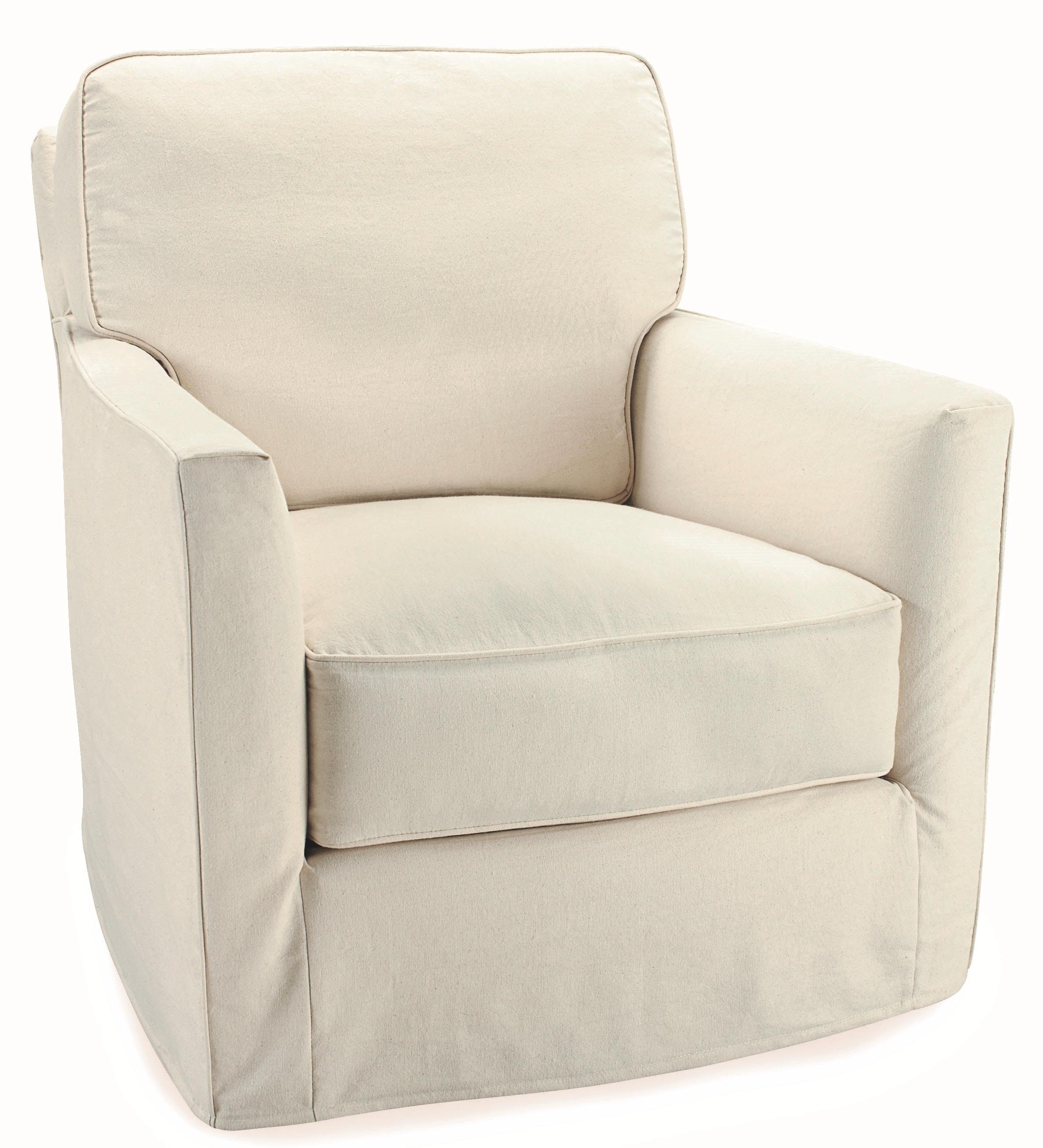 Lee Industries Slipcovered Swivel Chair C3121 01SW