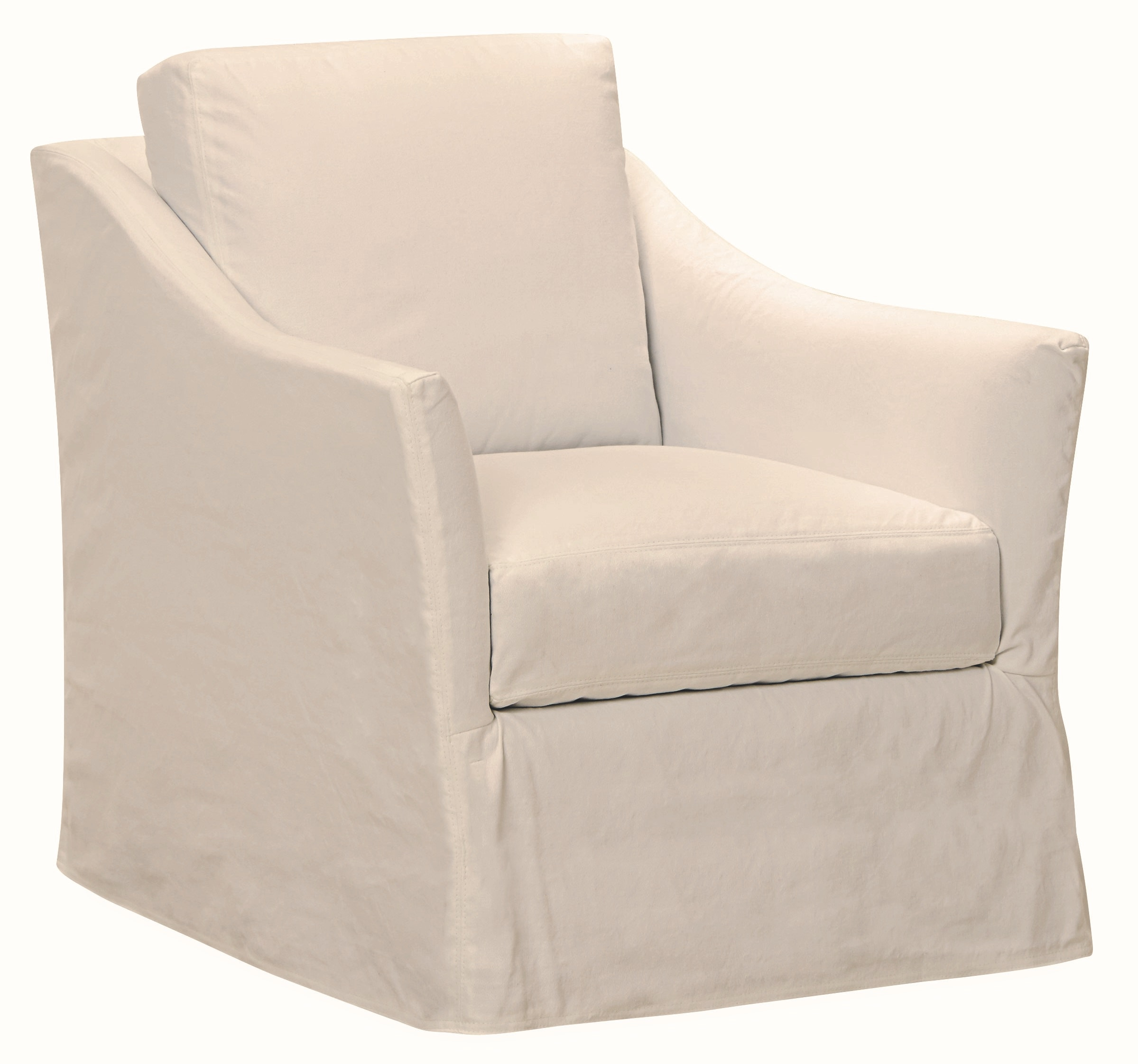 Lee Industries Slipcovered Swivel Chair C3513 01SW