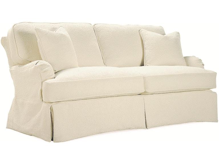 Lee Industries Living Room Slipcovered Apartment Sofa C3752 11 Tin