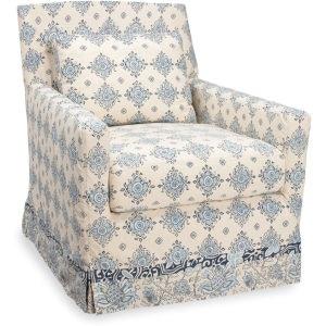 Lee Industries Slipcovered Swivel Chair C3907 41SW