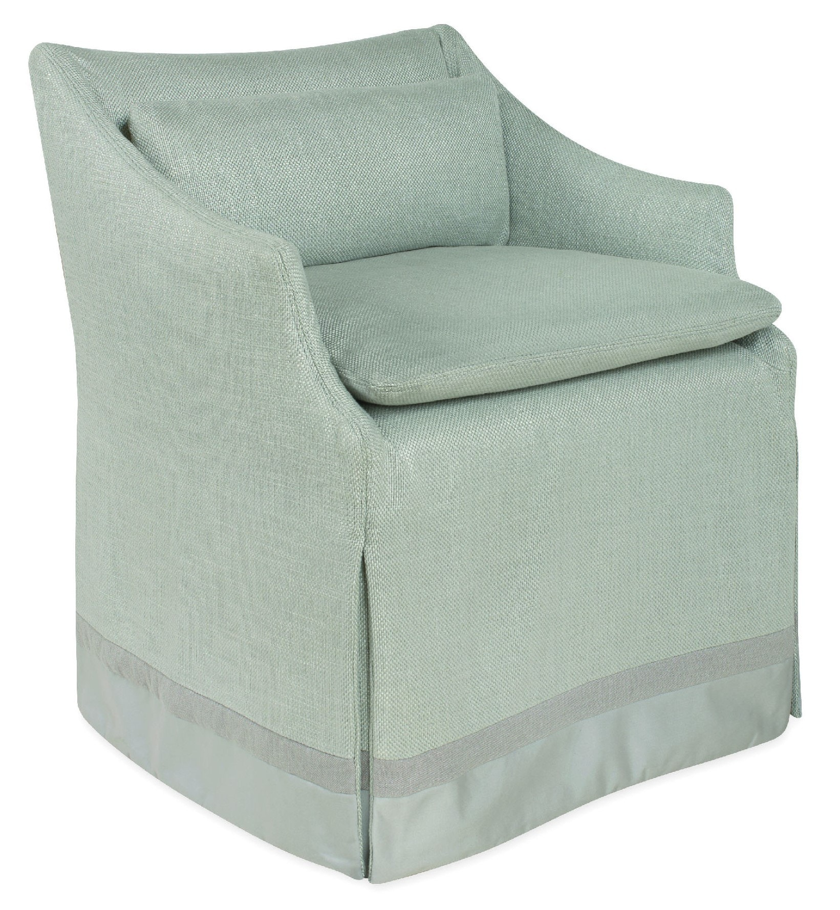 Lee Industries Slipcovered Low Back Campaign Chair C5203 01C